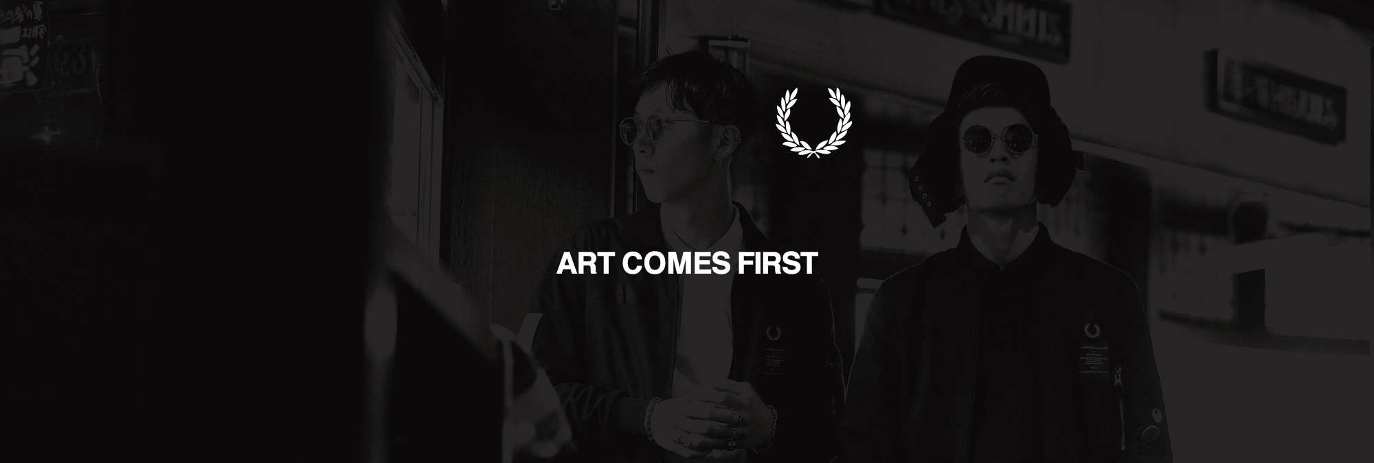 ART COMES FIRST x FRED PERRY